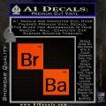Breaking Bad Element Squares Decal Sticker Orange Emblem 120x120