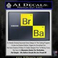 Breaking Bad Element Squares Decal Sticker Yellow Laptop 120x120