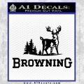 Browning D3 Decal Sticker Black Vinyl 120x120
