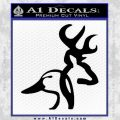 Browning Ducks Unlimited Combined Decal Sticker Black Vinyl 120x120