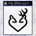 Browning Heart Decal Sticker Black Vinyl 120x120