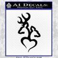 Browning Tribal Heart Decal Sticker Black Vinyl 120x120