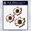 Bullet Holes Decal Sticker BROWN Vinyl 120x120