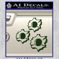 Bullet Holes Decal Sticker Dark Green Vinyl 120x120