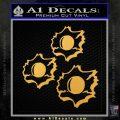 Bullet Holes Decal Sticker Gold Vinyl 120x120