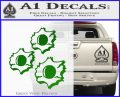Bullet Holes Decal Sticker Green Vinyl Logo 120x97