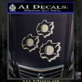 Bullet Holes Decal Sticker Metallic Silver Emblem 120x120