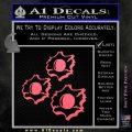 Bullet Holes Decal Sticker Pink Emblem 120x120