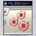Bullet Holes Decal Sticker Red 120x120