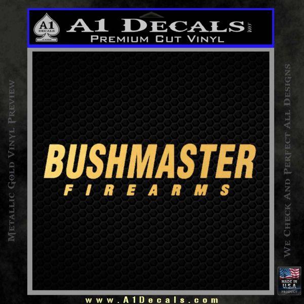 Bushmaster Firearms Decal Sticker Gold Vinyl