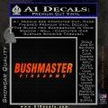 Bushmaster Firearms Decal Sticker Orange Emblem 120x120