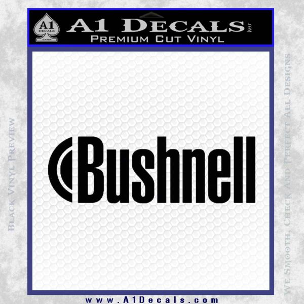 Bushnell Optics Decal Sticker Black Vinyl
