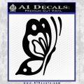 Butterfly D1 Decal Sticker Black Vinyl 120x120