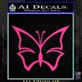 Butterfly D4 Decal Sticker Pink Hot Vinyl 120x120