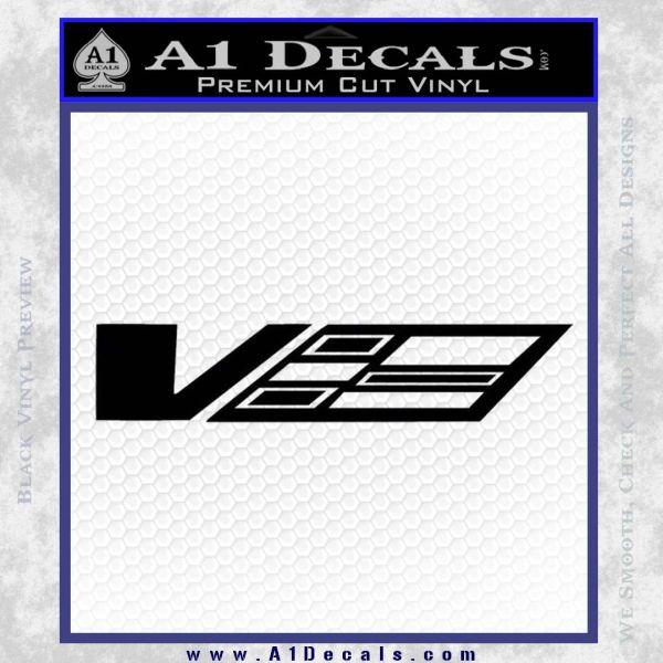 Cadillac CTS V D1 Decal Sticker Black Vinyl
