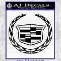 Cadillac New Logo Full Decal Sticker Black Vinyl 120x120