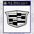 Cadillac New Shield Decal Sticker Black Vinyl 120x120