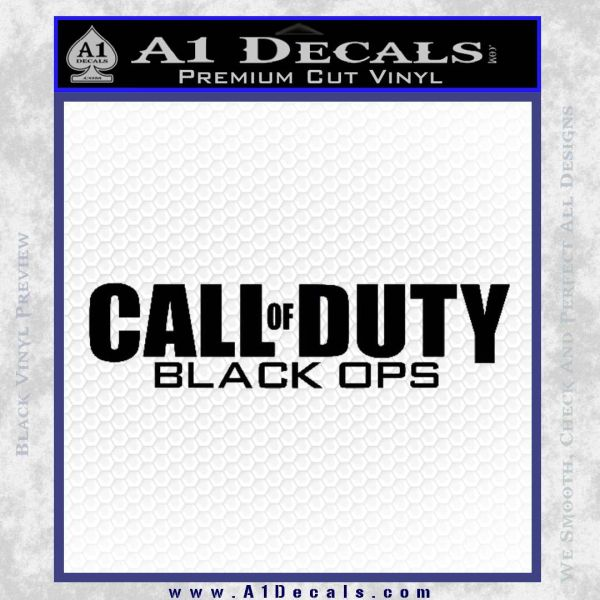Call Of Duty Black Ops 2 Official Logo Decal Sticker Black Vinyl