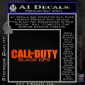 Call Of Duty Black Ops 2 Official Logo Decal Sticker Orange Emblem 120x120