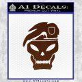 Call Of Duty Black Ops 2 Skull Beret Decal Sticker BROWN Vinyl 120x120