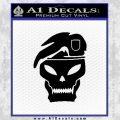 Call Of Duty Black Ops 2 Skull Beret Decal Sticker Black Vinyl 120x120