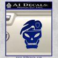 Call Of Duty Black Ops 2 Skull Beret Decal Sticker Blue Vinyl 120x120