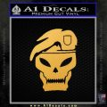 Call Of Duty Black Ops 2 Skull Beret Decal Sticker Gold Vinyl 120x120