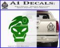Call Of Duty Black Ops 2 Skull Beret Decal Sticker Green Vinyl Logo 120x97