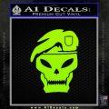 Call Of Duty Black Ops 2 Skull Beret Decal Sticker Lime Green Vinyl 120x120