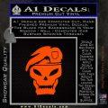 Call Of Duty Black Ops 2 Skull Beret Decal Sticker Orange Emblem 120x120