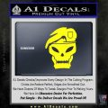 Call Of Duty Black Ops 2 Skull Beret Decal Sticker Yellow Laptop 120x120