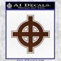 Celtic Sun Cross D1 Decal Sticker BROWN Vinyl 120x120
