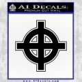 Celtic Sun Cross D1 Decal Sticker Black Vinyl 120x120