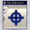 Celtic Sun Cross D1 Decal Sticker Blue Vinyl 120x120