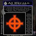 Celtic Sun Cross D1 Decal Sticker Orange Emblem 120x120