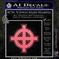 Celtic Sun Cross D1 Decal Sticker Pink Emblem 120x120
