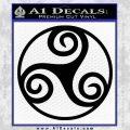 Celtic Swirl Triskel Decal Sticker Black Vinyl 120x120