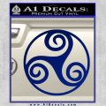 Celtic Swirl Triskel Decal Sticker Blue Vinyl 120x120