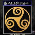 Celtic Swirl Triskel Decal Sticker Gold Vinyl 120x120