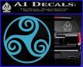 Celtic Swirl Triskel Decal Sticker Light Blue Vinyl 120x97
