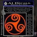 Celtic Swirl Triskel Decal Sticker Orange Emblem 120x120