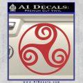 Celtic Swirl Triskel Decal Sticker Red 120x120