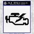 Check Engine Funny Decal Sticker Black Vinyl 120x120