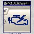 Check Engine Funny Decal Sticker Blue Vinyl 120x120