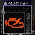 Check Engine Funny Decal Sticker Orange Emblem 120x120