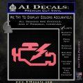 Check Engine Funny Decal Sticker Pink Emblem 120x120