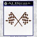 Checker Flag Decal Sticker BROWN Vinyl 120x120