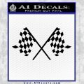Checker Flag Decal Sticker Black Vinyl 120x120