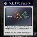 Checker Flag Decal Sticker Glitter Sparkle 120x120