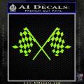 Checker Flag Decal Sticker Lime Green Vinyl 120x120